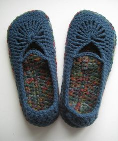 Womens Crochet Mary Jane Slippers Skimmers  Windsor by buyhand,