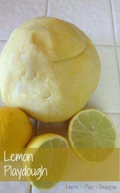 How to make lemon playdough - This super soft no fail recipe lasts for many months!