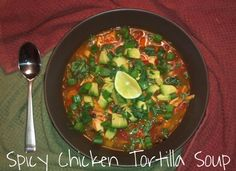 Spicy Chicken Tortilla Soup chicken tortilla soup