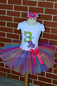 My little Pony Tutu Set. Personalized with Age and Name. Size newborn-5t. 3 Piece Set