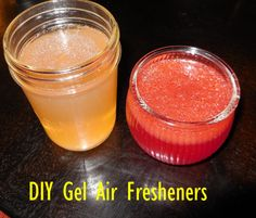 DIY: How to make Gel Air Fresheners, with just a few ingredients!