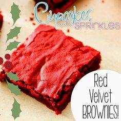Red Velvet HOLIDAY Brownies!