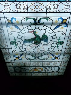 Interior of The Royal Pavilion, Brighton, East Sussex: Chinoiserie stained glass