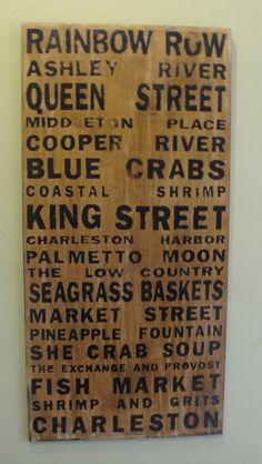 charleston sc, birch plywood, charleston theme, charlestonsc, street signs, place, rustic wood, rustic sign, charleston south carolina