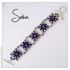 Soha bracelet - Pattern by Mu