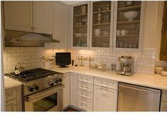awesom kitchen, notting hill, screens, cottages, cabinet doorswir, subway tiles, white cabinets, decor idea, white kitchens