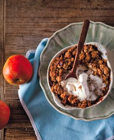 Gluten Free Apple Crisp Recipe - this recipe has Chinese five-spice! That would go so well with apples. mmmm.
