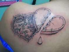 tattoos that have meaning of pain | 25 Artistic Broken Heart Tattoos | CreativeFan