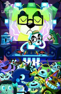DJ KK Animal Crossing Poster