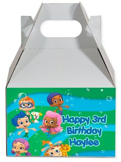 World of Pinatas - Bubble Guppies Personalized Gable Box (set of 6), $11.99 (http://www.worldofpinatas.com/bubble-guppies-personalized-gable-box-set-of-6/)