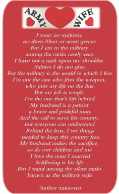 great description of an army wife