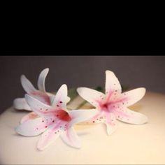 Handmade edible gum paste flowers
