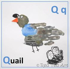 #Handprint #Alphabet Q