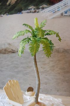 Miniature Royal Palm Tree for the 1:12 dollhouse scale beach cottage