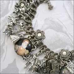 Renaissance Queen charm bracelet. So many things that I adore dangling from one piece of jewelry.