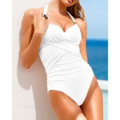 Backless Sleeveless V-Neck Lace-Up Design Women's Swimwear