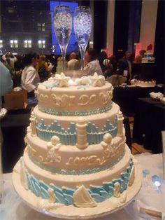 Bradley Bunch Bakery Cake using Korbel Champagne romantictravelbelize.com