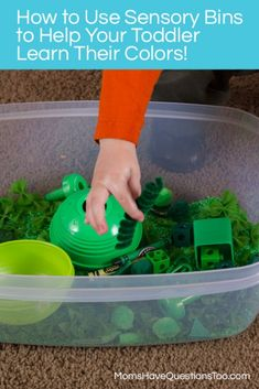 Sensory Bins Color Games for Toddlers