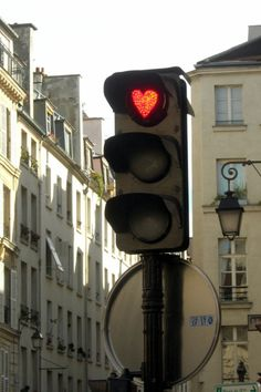 . lights, paris, red, valentine day, names, heart stoplight, heart light, photographi, thing
