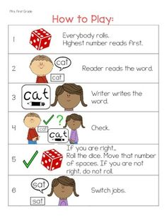 6 Word Work Games to go with ANY WORD LIST RF.K.2, RF.K.3, RF.1.2, RF.1.3, RF.2.3, RF.3.3 6 Word Work Games to go with ANY WORD LIST... I use these same games all year long with all of my word study spelling lists. Word work, phonics, spelling, whatever you call it-- This game will help! Practice reading and spelling words with these games! Includes student picture directions