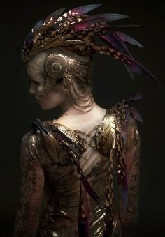 I like it. Headdress & Winged Harness designed and made by Rob Goodwin. Costume Design - David Bamber.  Photographer - Diego Indraccolo. Ballerina - Ksenia Ovsyanick. There we go!