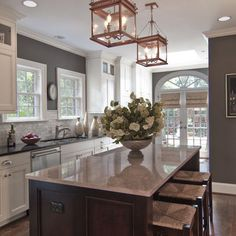 Kitchen Wall Colors With White Cabinets Design, Pictures, Remodel, Decor and Ideas, this is exactly what I need to do to my kitchen.