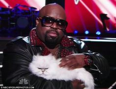 Cee Lo Green (: With cat!