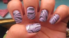 Lilac grey water marble