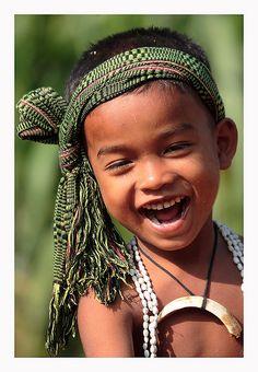 Happy Cambodian boy