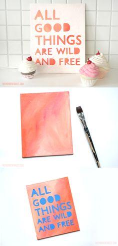 stencil masking: easy diy art