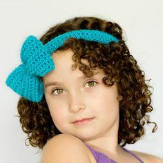 Bluebell Headband & Bow Crochet Pattern via Hopeful Honey
