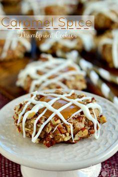 Caramel Spice Thumbprint Cookies