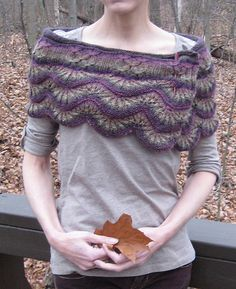 No way I can make this, but I love this little purple shrug!