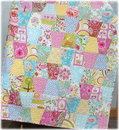 Baby Crib Quilt  Modern Girl Tumbler with Dena by CarleneWestberg, $139.00