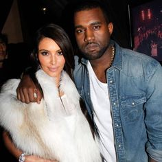 Kim and Kanye seen on the #LFW runway, courtesy of Tom Ford. See the look, here: