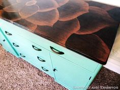 beautifully stained buffet