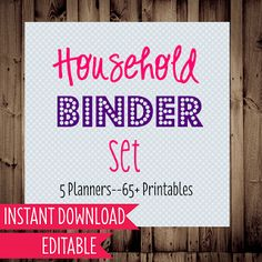household binder printables