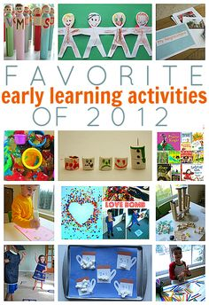 Favorite Early Learning Activities of 2012 { from No Time For Flash Cards}