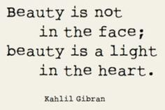 Beauty is not in the face...