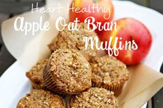 Heart Healthy Apple Oat Bran Muffins... need to buy some flaxseed
