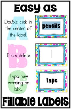 Getting organized is easy with these editable labels. Click here to try! ($)