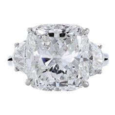 Harry Winston Cushion-Cut Diamond Ring