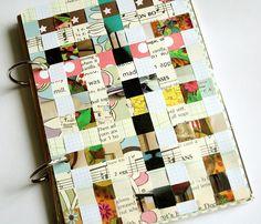 DIY Woven Paper Art Journal Cover