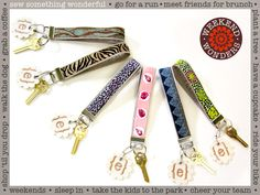 Ribbon & Faux Suede Wrist Loop Key Fobs: Weekend Wonders Returns with Fabric.com | Sew4Home