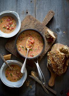 Gabrielle's Winter Tomato Corn Soup