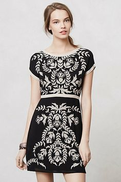 Embroidered Ombra Shift / Anthropologie