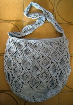 crochet bag, pattern available