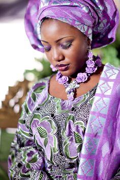 Nigerian beauty in purple