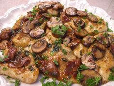 I love to make chicken Marsala for large parties or family dinner parties. It's such a yummy treat and everyone seems to love it. You can easily double or triple the recipe. If I'm having a large dinner party I will usually make things ahead of time and refrigerate them.