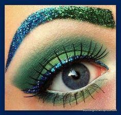 Umm SEAHAWKS. Hello, superbowl makeup!